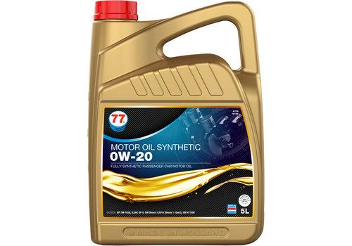 77 Lubricants Motor Oil Synthetic 0W-20 - Motorolie, 5 lt