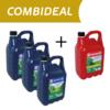 COMBIDEAL 3x 5L 4T en 1x 5L 2T - Alkylaatbenzine