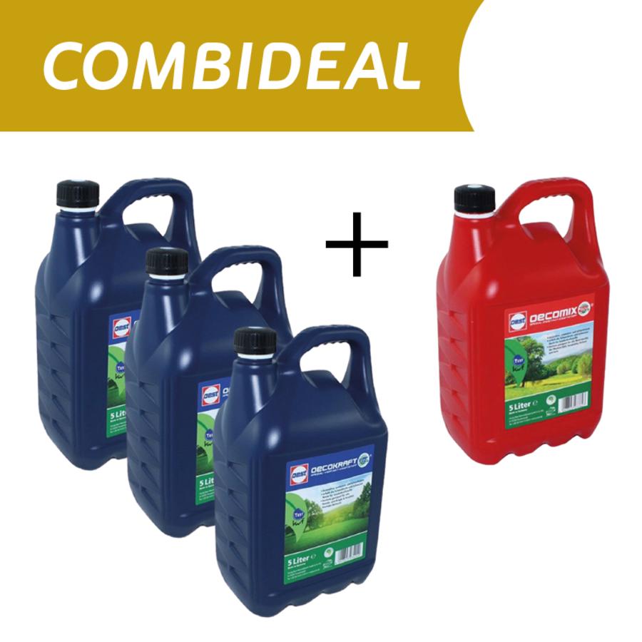 COMBIDEAL  3x 5L 4T en 1x 5L 2T - Alkylaatbenzine-1