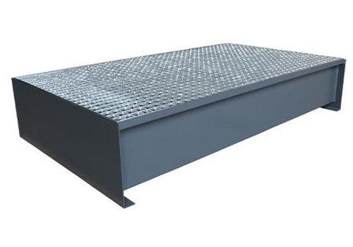 Lekbak gelakt staal (2 x 200 liter vat)