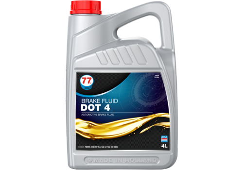 77 Lubricants Brake Fluid Dot 4 - Remvloeistof, 4 lt