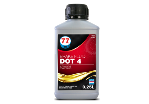 77 Lubricants Brake Fluid Dot 4 - Remvloeistof, 250 ml