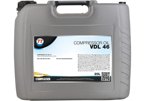 77 Lubricants Compressor Oil VDL 46 - Compressorolie, 20 lt