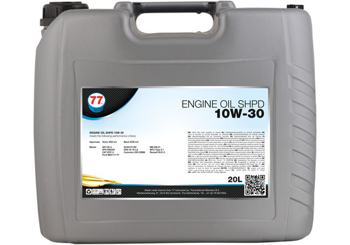 77 Lubricants Engine Oil SHPD 10W-30 - Heavy Duty, 20 lt
