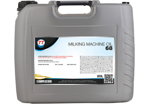 77 Lubricants Milking Machine Oil 68 - Melkmachine Olie, 20 lt