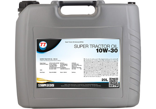 77 Lubricants Super Tractor Oil 10W-30 - Tractor Olie, 20 lt
