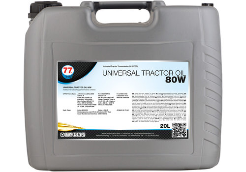 77 Lubricants Universal Tractor Oil 80W - Tractor Olie, 20 lt