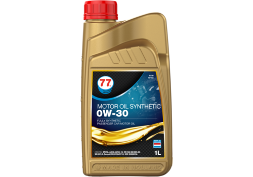 77 Lubricants Motor Oil Synthetic 0W-30 - Motorolie, 1 lt