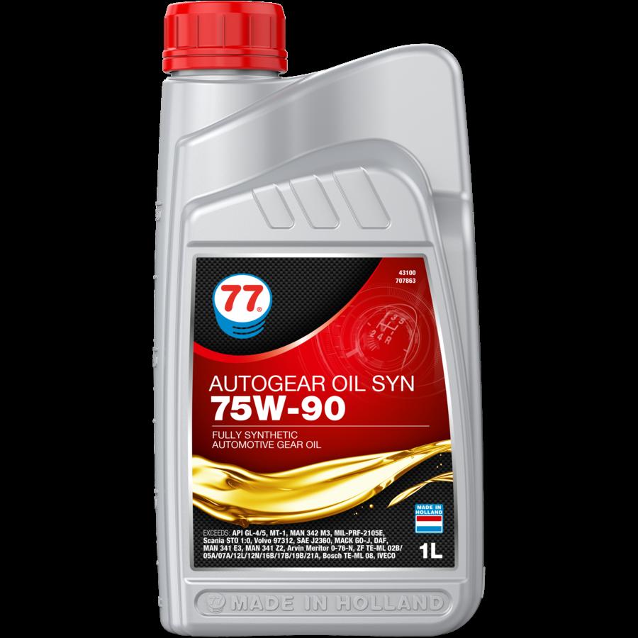 Autogear Oil SYN 75W-90 - Versnellingsbakolie, 1 lt-1