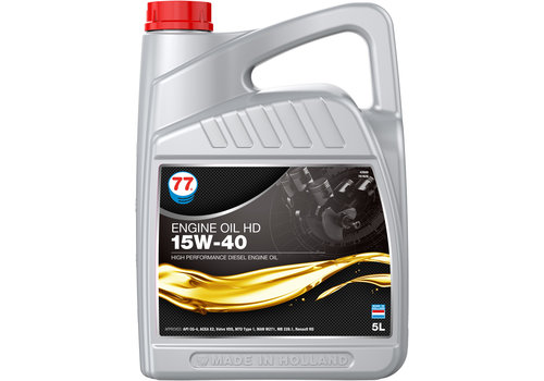 77 Lubricants Engine Oil HD 15W-40 - Heavy Duty, 5 lt