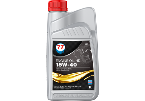 77 Lubricants Engine Oil HD 15W-40 - Heavy Duty, 1 lt