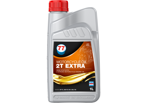 77 Lubricants Motorcylcle Oil 2T Extra - Motorfietsolie, 1 lt