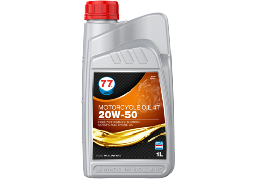 77 Lubricants Motorcycle Oil 4T 20W-50 - Motorfietsolie, 1 lt