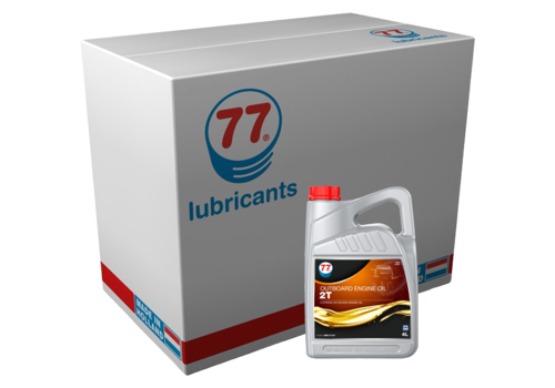 77 Lubricants Outboard Engine Oil 2T - Buitenboordmotor olie, 4 x 4 lt