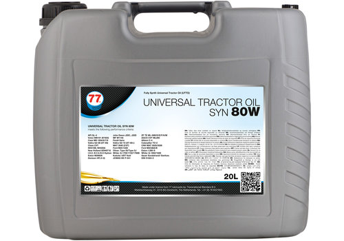 77 Lubricants Universal Tractor Oil SYN 80W, 20 lt