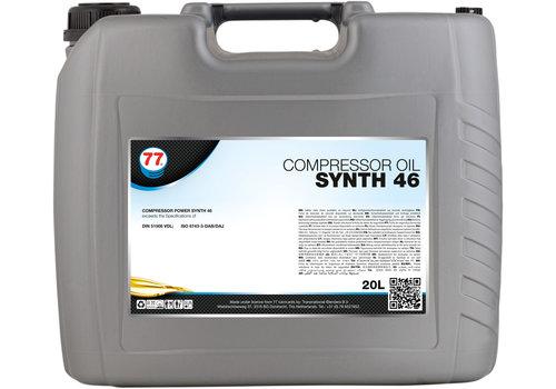 77 Lubricants Compressor Oil Synth 46 - Compressorolie, 20 lt
