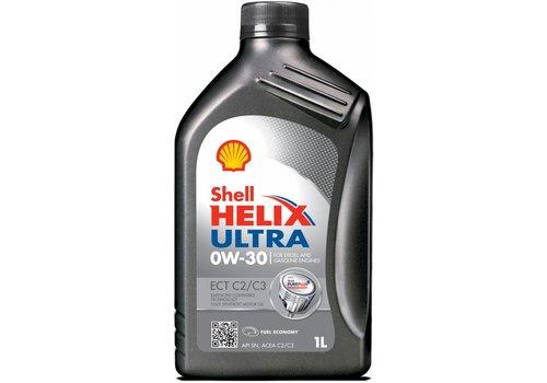 Shell Helix Ultra ECT C2/C3 0W-30 - Motorolie, 1 lt