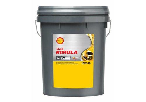 Shell Rimula R6 LM 10W-40 - Heavy Duty Engine Oil, 20 lt