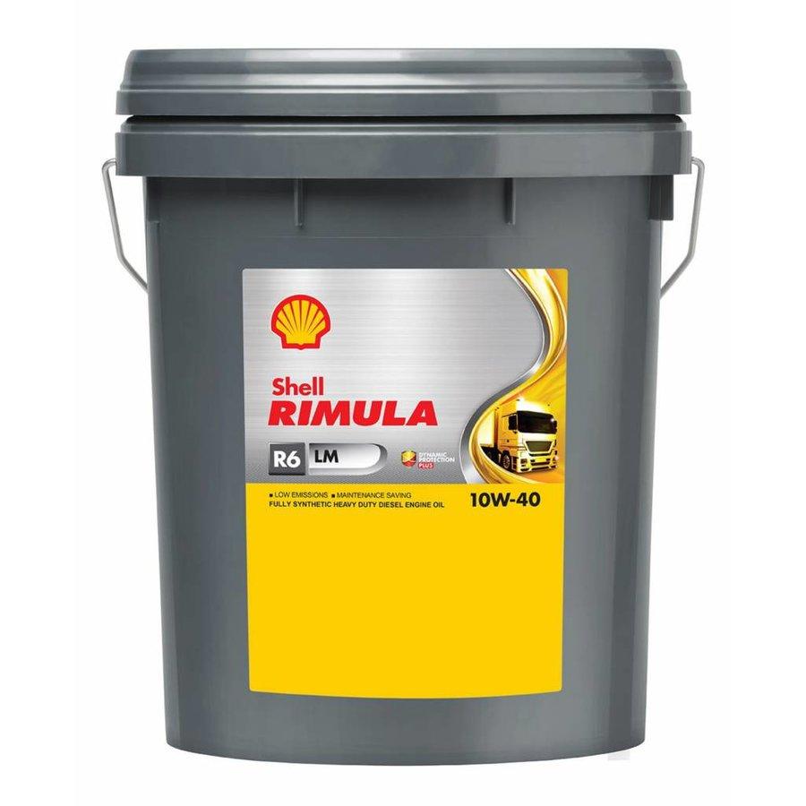 Rimula R6 LM 10W-40 - Heavy Duty Engine Oil, 20 lt-1