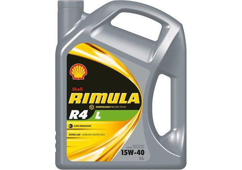 Shell Rimula R4 L 15W-40 - Heavy Duty Engine Oil, 5 lt