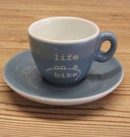 Life on a Bike Espresso Cup
