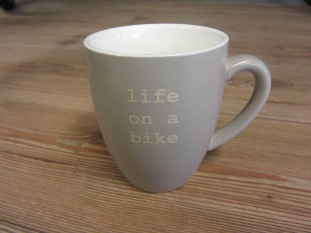Life on a Bike Mug 400ml Stone