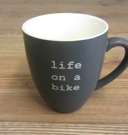 Life on a Bike Mug 400ml Slate