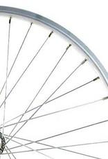 700c Hybrid Rear Wheel Alloy Double Wall GS Silver