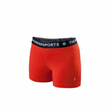 Thundersports Short dames rood sportkleding