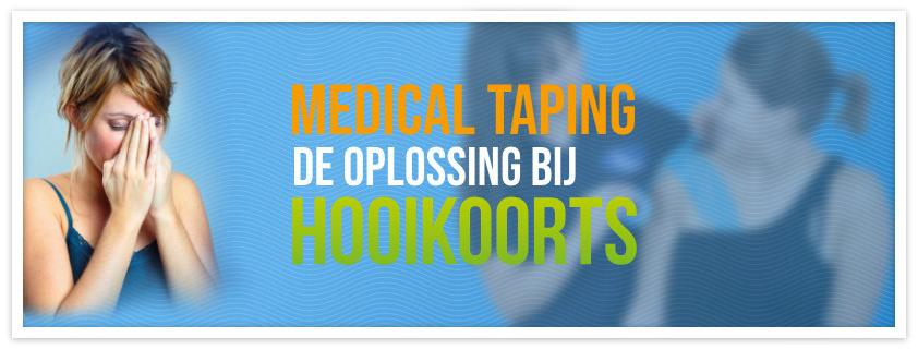 Medical Taping bij hooikoorts