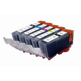 Canon CLI-521/PGI-520 Set Compatible 5 stuks met chip