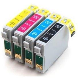 Epson T0711-T0714 compatible inktpatronen set van 4 stuks