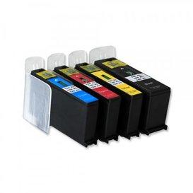 Lexmark 100 compatible inktpatronen set van 4 stuks