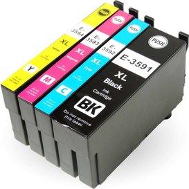 Epson T3591-T3594 Huismerk inktpatronen 35XL set van 4 stuks