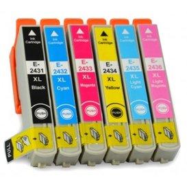 Epson T2431-T2436 compatible inktpatronen 24XL set van 6 stuks