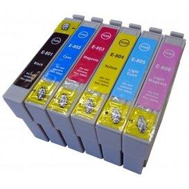 Epson T0801-T0806 compatible inktpatronen set van 6 stuks