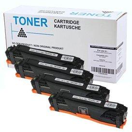 HP Toner Huismerk 128A Set 4 kleuren CE320A, CE321A, CE322A en CF413A