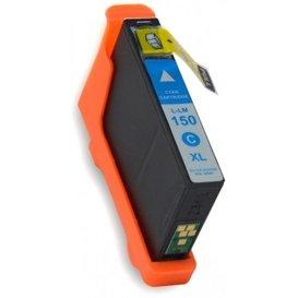 Lexmark 150 compatible inktpatroon Cyaan 18 ml.