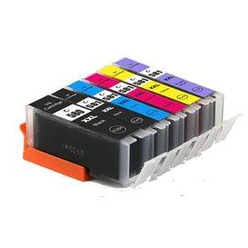 Canon CLI-581/PGI-580 Huismerk inktpatronen 6 stuks met chip