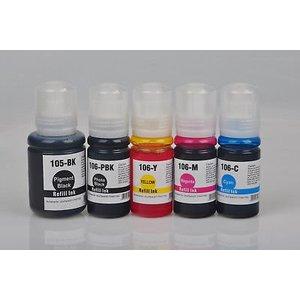Epson T105-T106 Huismerk Refill kit voor EcoTank Printer Set 5 kleuren