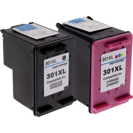 HP Compatible set inktpatronen HP301XL Kleur en Zwart