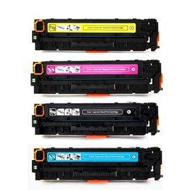 HP 312X, 312A Set 4 kleuren CF380X, CF381A, CF382A, CF383A Toner Huismerk