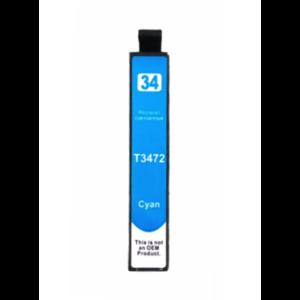 Epson T3472 Huismerk inktpatroon 34XL Cyaan