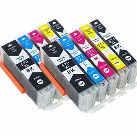 Canon CLI-571/PGI-570 Huismerk inktpatronen 10 stuks met chip
