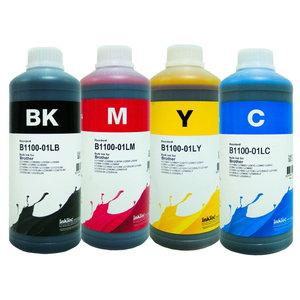 Brother Dye inkt Inktec 1 liter flacons, set van 4 kleuren