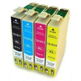 Epson T1811-T1814 compatible inktpatronen 18XL set van 4 stuks