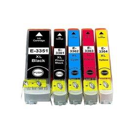 Epson T3351-T3364 Huismerk inktpatronen 33XL set van 5 stuks