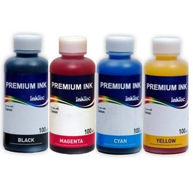 Canon CLI-551, CLI-541, CLI-546, BCI-3, BCI-6 Dye inkt 100 ml. Set 4 kleuren