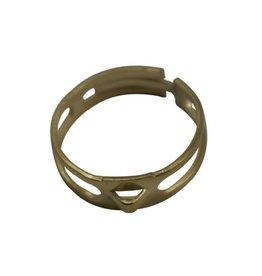 CDQ finger ring DIY eye modified gold