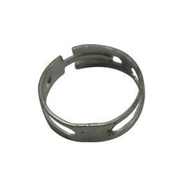 CDQ DIY finger ring silvered flat